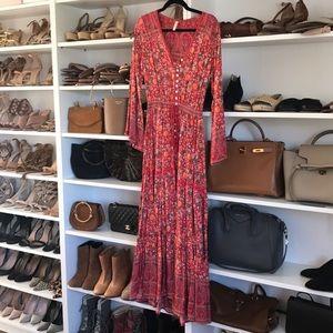 Boho floral dress